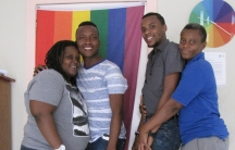 At the headquarters of Kouraj, a prominent LGBT rights group in Haiti. Outside, the office is unmarked.