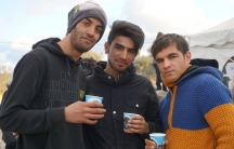 Refugees and migrants with a cup of tea