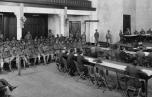 Sixty-four soldiers from the 3rd Battalion of the 24th United States Infantry, a predominantly black unit, were tried in the largest court martial in US military history over their roles in the Camp Logan riot. Thirteen were sentenced to death.