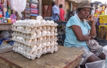 woman selling eggs