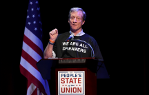 Tom Steyer speaks during the