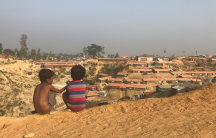Children at a Rohingya refugee camp in Bangladesh.