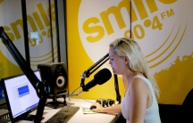 Saya Pierce-Jones records a recent report on Cape Town's water crisis for Smile 90.4FM radio. In more than a year on the full-time water beat, Pierce-Jones helped listeners understand the roots of the crisis and find ways to dramatically cut their water u