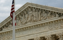 A view of the US Supreme Court building in Washington, DC.