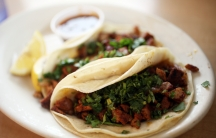 Tacos al pastor from Carmela's Mexican Restaurant in Beaumont, Texas.