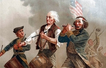 """""""The Spirit of '76,"""" by Archibald Willard, which exemplifies the spirit of the citizen-nation in arms, with men of all ages stepping up when needed by their country, the antithesis of a professional, standing army, despised by the Founding Fathers"""