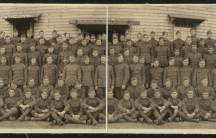 """Members of the US Army Company """"I"""", 102nd Infantry Regiment circa 1919."""