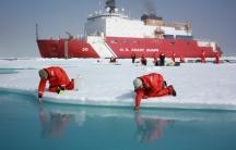 Scientists in the Arctic.
