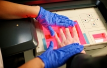 A fingerprint reader in action