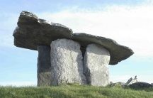 The Poulnabrone dolmen (Poll na mBrón in Irish) is a portal tomb in  County Clare, Ireland, dating back to the Neolithic period, probably built 5-6000 years ago.