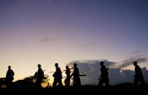 Somali troops march against Al Shabaab