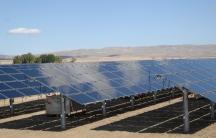 Solar panels at Topaz Solar Farm in California.