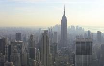New York skyline smog