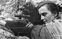 This Russian woman sniper, Lyudmila Pavlichenko, who has killed by her accurate shooting the magnificent total of 300 Germans before Sevastopol.