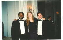 Alexis Sinduhije, Samantha Power and Bryan Rich at the Committee to Protect Journalists awards in 2004