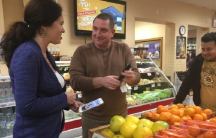 Yuriy Blyakhman and Sabina Roytman own several grocery stores in the Boston area that carry international food, particularly serving people from the former Soviet Bloc.