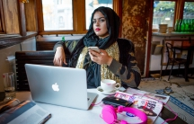 Amani Al-Khatahtbeh, the creator of the website Muslim Girl.