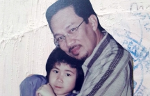 "Anwar Ibrahim and daughter Nurul Hana Anwar on the cover of ""My Dear Papa."""