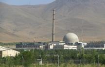 A heavy water reactor near Arak, Iran