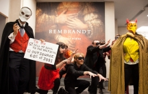 "Britain's National Gallerly sells its soul to the villainous ""Man from Shell"" is this recent guerilla theater presentation by the activist group Art Not Oil. Fossil fuel industry support of cultural institutions has become increasingly controversial in th"