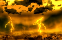 An artist's concept of lightning on Venus.
