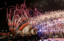 Fireworks explode over the Sydney Opera House as Australia ushers in the New Year.