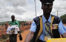 Aboubacar Doumbia, a mailman in Bamako, Mali.