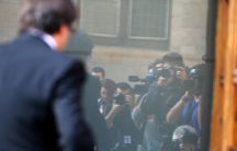 Catalan President Carles Puigdemont arrives for a cabinet meeting at the regional government headquarters in Barcelona, October 10, 2017.