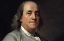 Portrait of Benjamin Franklin.