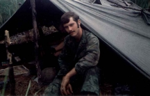 Bill Ervin at the DMZ area during the Vietnam war in 1969.