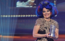 The joys of an Icelandic keyboard? The Viking tales and the musician Bjork, here accepting her artist of the year award at the Webby Awards in New York in 2012.
