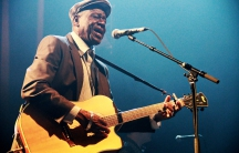 Boubacar Traore on stage. March 29, 2012 Paris,France