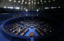 Senators vote on the the spending freeze in Brazil.