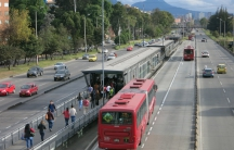 Bogotá's TransMilenio buses began operating in the year 2000.It's the largest bus rapid transit system on the planet carrying 2.4 million passengers daily.