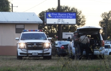First responders are at the scene of shooting at the First Baptist Church in Sutherland Springs