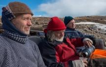 "Jan Wanggaard (l), Bjørn Myrann (c), and Stig Pettersen (r), from the ""Maud Return Home."""