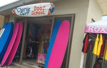 A surf shop in the Philippines town Baler, where some surfing scenes from Apocalypse Now were filmed.