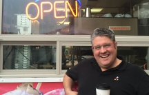 Chris Tara-Browne was a coffee magnate in Siberia. Now, he's starting over again in California. His new venture, CaféUnity, is going in in what was a hot dog stand in Rohnert Park.