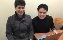 """Lee Chang-hoo (l) and Kwon Soon-chul (r) started a baseball podcast, along with another visually impaired baseball fan. But they don't tell their listeners that they're blind. """"They probably think we're just average, amateur sports fans."""""""