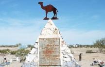 The Hi Jolly Monument in Quartzsite, Arizona.