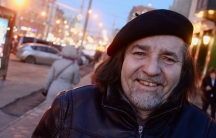 Omar Hernandez in downtown Moscow. He says problems that came from speaking his mind too freely in Cuba led him to leave in the early 90s. Now he's lives in Russia.
