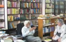 Ram Advani in his bookshop, Ram Advani Booksellers. He ran it for more than a half century.
