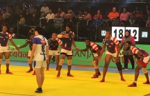 Team USA on the kabaddi mat at the World Cup in October