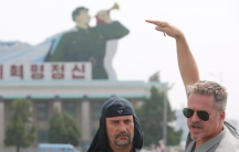 Director Morten Traavik (r) with the lead singer of Laibach, Milan Fras. Traavik brought the Slovenian band to Pyongyang in 2015 for a concert. And then he made a film about it.