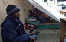 Abdallah Abu-Bakr Al-Ghazouli fled Darfur in 2007. He's tried to get refugee status in Lebanon since. Now he and some other Sudanese asylum seekers are camping out 100 feet from the UNHCR office in Beirut.