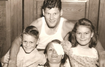 The Downs family after their rescue. A German U-boat torpedoed the ship they were sailing on in the Gulf of Mexico in 1942.