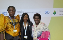 Constance Okollet, Thilmeeza Hussain and Ursula Rakova have observer status at the UN climate change summit this week in Paris as part of the organization Climate Wise Women. They are appealing to national leaders here to listen to the voices of the peopl