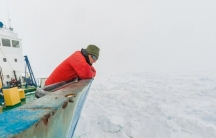 Chris Fogwill looks out on the frozen Antarctic. His expedition is retracing the steps of Douglas Mawson a century ago.