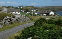 The village of Arinagour on the remote Scottish island.