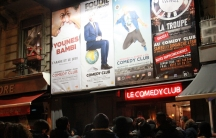 Outside Paris' Le Comedy Club before the performace of comedians Younes and Bambi, aka Younes Depardieuis and Samuel Djian. Younes is Muslim. Samuel is Jewish.